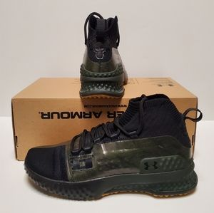 Under Armour Project Rock 1 Black Green Shoes